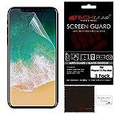 TECHGEAR [3 Stück] Matt Displayfolie für iPhone 11 Pro Max - Matte Anti Glare Blendschutz Schutzfolie mit Reinigungstuch + Applikationskarte kompatibel mit iPhone 11 Pro Max