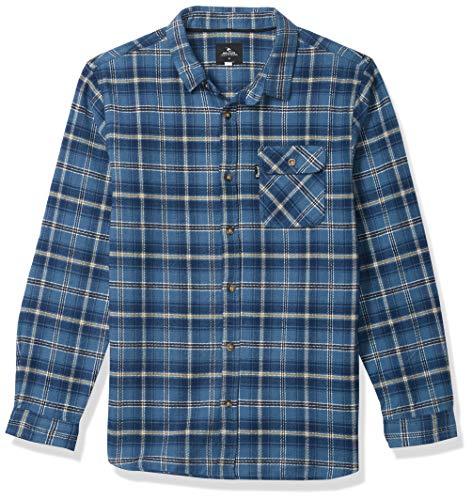 RIP CURL Jungen Boy's Salt Water Culture Check Long Sleeve Shirt Hemd, Navy, Groß
