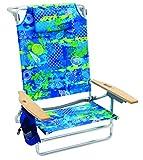 Rio Beach Big Kahuna Extra Large Folding Beach Chair, Blue Stripe