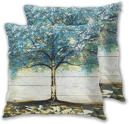 'N/A' Juego de 2 fundas de almohada para sofá, dormitorio, coche, 45,7 x 45,7 cm