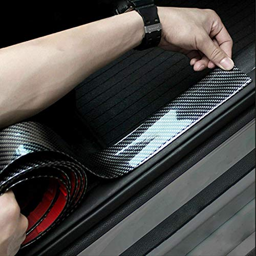 Etiquetas engomadas del coche 5D fibra de carbono de goma travesaño de la puerta protector for megane 2 Mercedes trafic W211 Audi A6 BMW m audi a3 8v asiento arosa ( Color Name : 5CM x 1Meter )