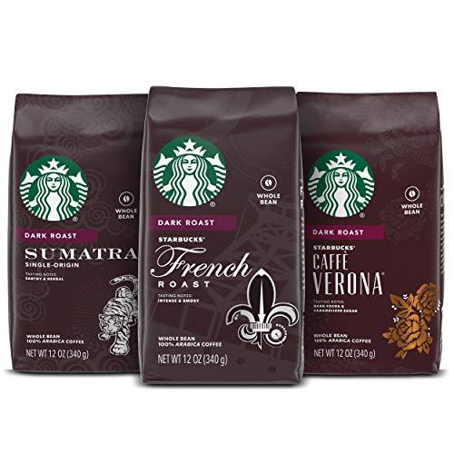Title: Starbucks Dark Roast Whole Bean Coffee — Variety Pack — 3 bags (12 oz. each)