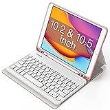 Inateck Tastatur Hülle für iPad 2020(8th Gen)/iPad 2019(7th Gen) 10.2 Zoll, iPad Air 3 & iPad Pro 10.5, abnehmbar, mit Displayabschaltung,QWERTZ, KB02012,Pink
