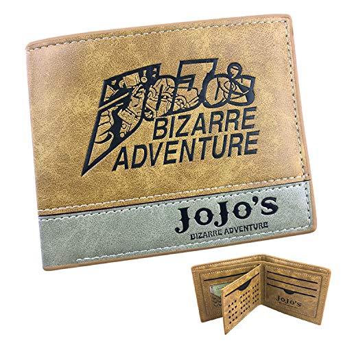 xcoser JoJo's Bizarre Adventure Wallet Derivative Anime Derivative Khaki PU Leather Wallet Accessory