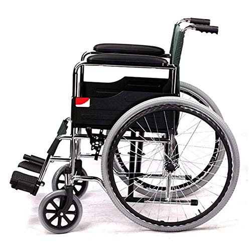 Inicio Equipo Carro de hospital Estante de suministros médicos Silla de ruedas plegable liviana Conducción Silla de ruedas médica Scooter portátil Ancianos Ancianos discapacitados Carro Adecuado pa