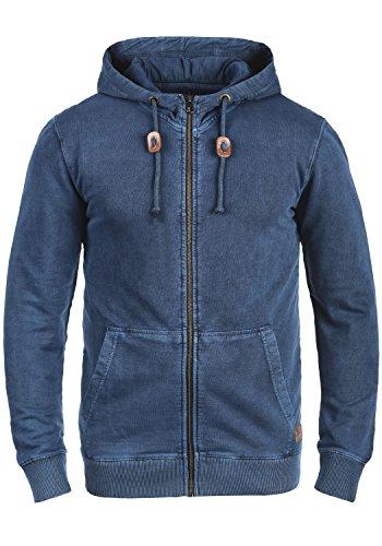 Blend Itaschi Herren Sweatjacke Kapuzenjacke Hoodie Mit Kapuze Und Reißverschluss Aus 100% Baumwolle, Größe:L, Farbe:Navy (70230)