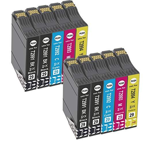 Teland 10 × 29XL Cartuchos de Tinta para 29 XL Compatible con Epson Expression Home XP-235 XP-245 XP-247 XP-255 XP-342 XP-332 XP-335 XP-345 XP-432 XP-435 XP-442