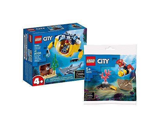 Collectix Lego Set: Mini-U-Boot 60263 + Tiefseetaucher 30370, Geschenkset ab 5 Jahren