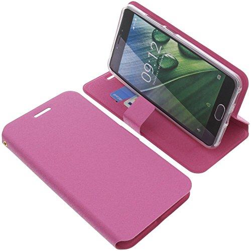 foto-kontor Tasche für Acer Liquid Z6 Plus Book Style pink Schutz Hülle Buch