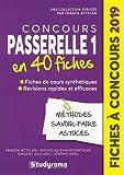 Coucours Passerelle 1 - 40 fiches méthodes, savoir-faire et astuces