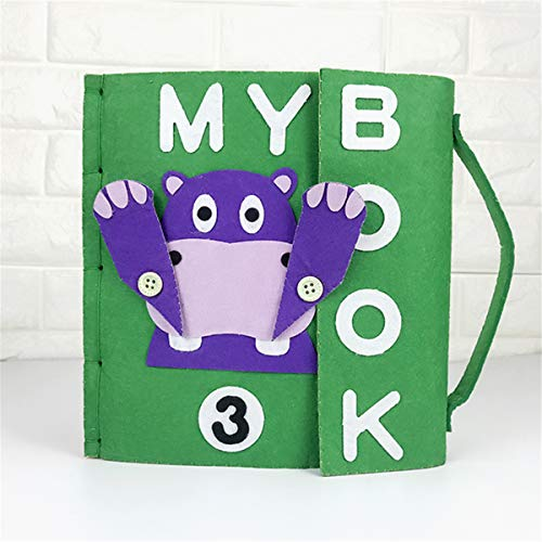 3D Kid Cloth Book DIY Non-Woven Panting Book Manual Intelligence Puzzle Children Toy Early Education Development Reading Book Birthday Gift for Kid