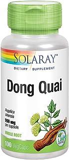 Solaray Dong Quai Root 550mg | Healthy Menstrual & Menopausal Support | Womens Health Supplement | Whole Root | Non-GMO, V...