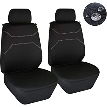 H 2 x Fronts Duty Black Waterproof Seat Covers//Protectors Kia Sorento