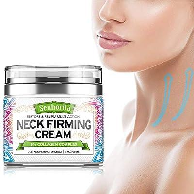 Neck Firming Cream, Anti Aging Neck & Décolleté Moisturizer Senhorita Saggy Neck Tightener & Double Chin Reducer Cream, 1.7 oz