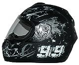 Protectwear Moto casco nero / grigio Disegno 99 FS-801-99, Taglia M