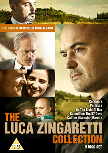 The Luca Zingaretti Collection : 5 Disc Box Set (Cefalonia, Perlasca ,Calling Inspector Marotta, By The Light Of Day, Borsellino: The 57 Days) [DVD] [UK Import]