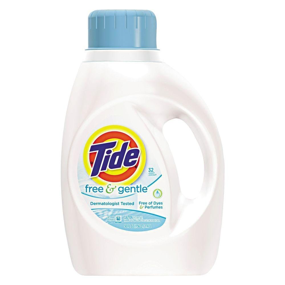 Tide 50 oz. Detergente para la Colada Free and Gentle (Caja de 6 ...