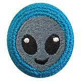 Emoji Alien Head Crocheted Footbag