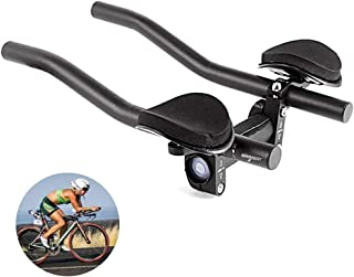 DSRong TT Handlebar Aero Bars Bicycle Rest Handlebar Bike Aluminium Alloy Arm Rest Handlebar Triathlon Aero Bicycle Tri Bars Relaxlation Handlebars for Road Bike and Mountain Bike