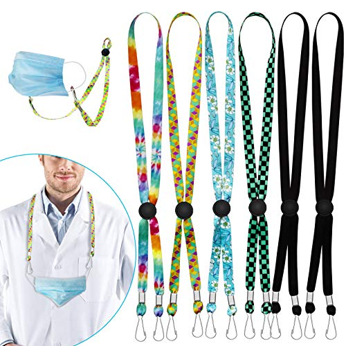 6 Pcs Mask Lanyard, Adjustable Face Mask Lanyards for Kids, Anti-lost Mask Leash Comfortable Mask Lanyards with Clips Around the Neck Suitable for Kids, Men, Women, Children