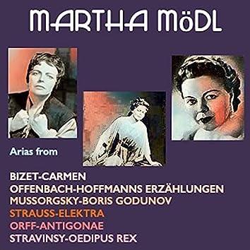 Martha Mödl sings arias form: Carmen · Hoffmanns Erzählungen · Boris Godunow · Elektra · Antigonae · Oedipus Rex