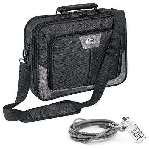 PEDEA laptop bag 'Premium' bag for notebooks with screens up to 13.3 inches (33.8 cm); shoulder bag with shoulder strap incl. notebook lock, grey