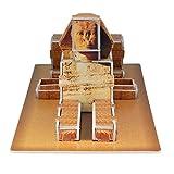 Runsong Creative 3D Puzzle Paper Model Egypt Pyramids DIY Fun & Educational Toys World Great Architecture Series, 29 Pcs