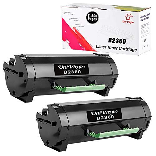 2 Pack Compatible B2360 Toner Cartridge for 331-9805 Black High Yield Laser Toner fits for Dell B2360d B3460dn B2360dn B3465dnf B3465dn Printers (8,500 Pages per B2360 Black Cartridge)