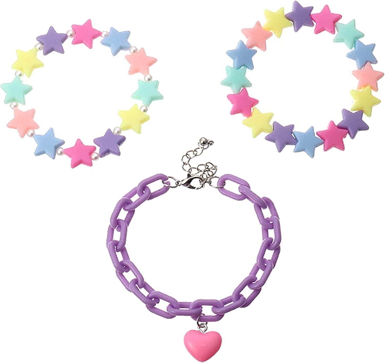 1 Set Candy Color Fashion Girls Bracelets Set Star
