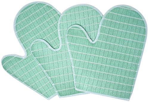 Bambou Expert Gants Microfibre de Bambou - Nettoie les Surfaces Fragiles - Bonne Prise - Hautement Absorbant - Pas de Rayures ou Peluches - Restaure la Brillance du Verre, Marbre et Inox - Set de 3