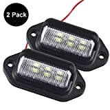 2 Pack 12V LED License Plate Light Lamp for Trailer Truck SUV Van, 6 SMD Exterior Step Courtesy Dome Lights...