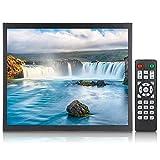 Monitor de 17 Pulgadas, Monitor de Pantalla Full HD de 1280x1024 Monitor Industrial de Metal Integrado, Entrada HDMI/VGA/AV/BNC/USB, para PC, CCTV, Videocámaras Y Computadoras(EU)