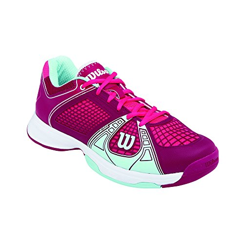 Wilson RUSH NGX WOMAN, Damen Tennisschuhe, Mehrfarbig (Cerise/Merlot/Mint Ice), 38 1/3 EU (5 Damen UK)