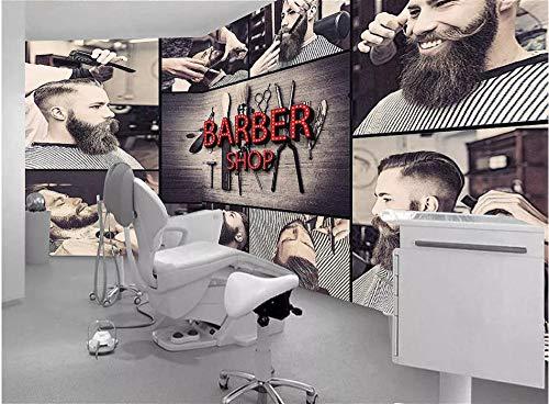 Afashiony Fototapete Für Wohnzimmer Wandbild Premium Tapeten Hd Druck Poster Wandkunst Bild Moderne Wanddekoration Retro Friseur Schönheit Frisur Hintergrund-350Cmx250Cm