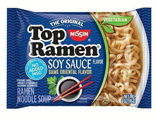 Nissin Top Ramen – Soy Sauce Flavor (pack of 24) Formerly Oriental Flavor, Same Great Flavor