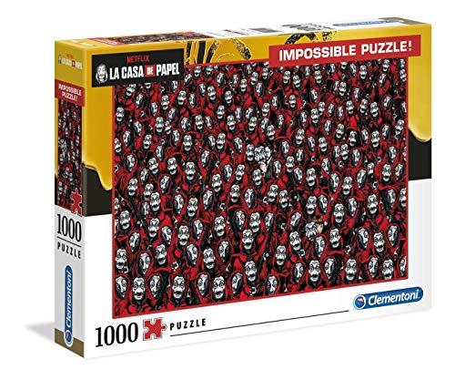 Clementoni - 39527 - Impossible Puzzle - La Casa Di Carta - 1000 Pezzi - Made In Italy - Puzzle Adulti Netflix