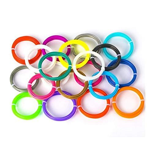 5 Meters ABS Filament 1.75mm 3D Printer Materials 3D Pen Filament For 3D Printer Pen Doodler Drawing (20 Colors) 0904 (Color : 1)