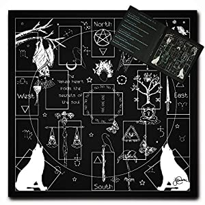 Naked Heart Tarot Cloth for Reading and Altar Cloth Comes with Tarot Spreads Booklet - Tarot Tapestry, Moon Alter, Cloth Witchy Decor Fortune Teller Accessories (Same Creator as The Tarot)