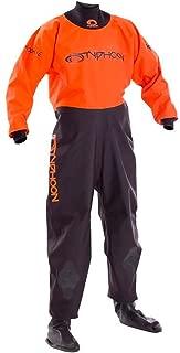 Typhoon Kids Youth Junior Rookie Drysuit Dry Suit Neoprene Wetsuit Seals Black Orange. Breathable - Unisex
