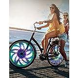 Luz de 32 LED Radio Rueda Bici Bicicleta 30 Patrones Motivos Llanta Luces Colores