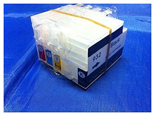 piaopiao Uso RIC FIT FOR para impresoras HP 932 933 HP6100 6600 6700 7110 7610 Cartuchos de Tinta Recargables Piezas de Impresora