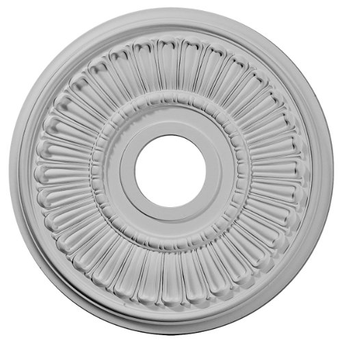 Ekena Millwork CM16ML Melonie Ceiling Medallion, 16OD x 3 5/8ID x 3/4P (Fits Canopies up to 6 3/8), Primed