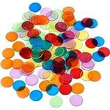 Lvcky 120 Stück transparente Farbzähler Bingo-Chips Kunststoff Marker mit Aufbewahrungstasche