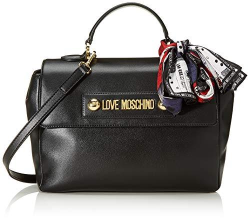 Love Moschino Borsa Small Grain Pu, Mano Donna, (Nero), 20x31x11 cm (W...