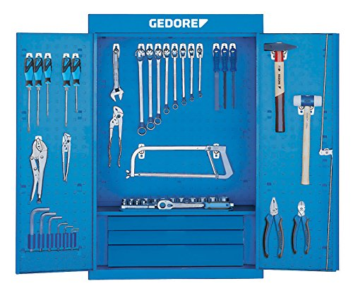 GEDORE 1401 LH Werkzeugschrank mit Hakensortiment 1500 HS 11