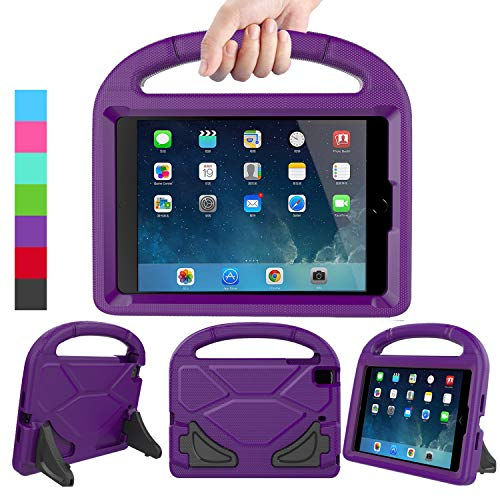 LEDNICEKER Kids Case for iPad Mini 1 2 3 4 5 - Light Weight Shock Proof Handle Friendly Convertible Stand Kids Case for iPad Mini, Mini 5 (2019), Mini 4, iPad Mini 3rd Gen, Mini 2 - Purple