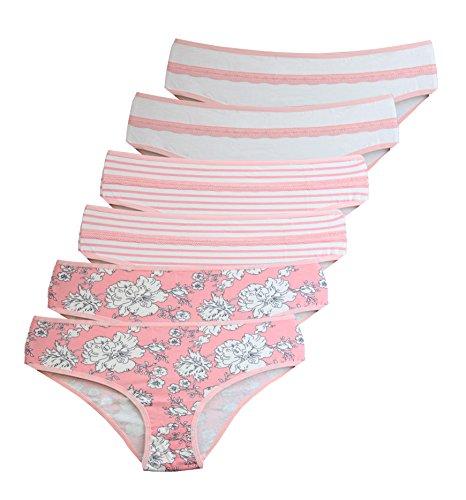 Miss Beautiful stijlvolle pantieslip van zacht katoen, fris geurend, verpakking van 6 stuks