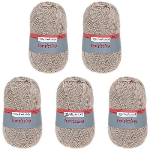 Schoeller Stahl 4014816146063 Fortissima Socka Wolle, Schurwolle, Holz-Mel, 420m, 5