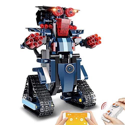 Eirix Building Block Robot Building Toys Remote amp APP Control Engineering Kits STEM Robotics Intelligent Gift for Boys Girls Age of 618 Blue