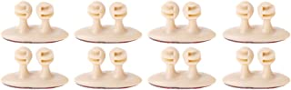 1989candy 8Pcs Car Interior Clip Earphone Cable Clip Arrangement Panel Clamp(Beige)